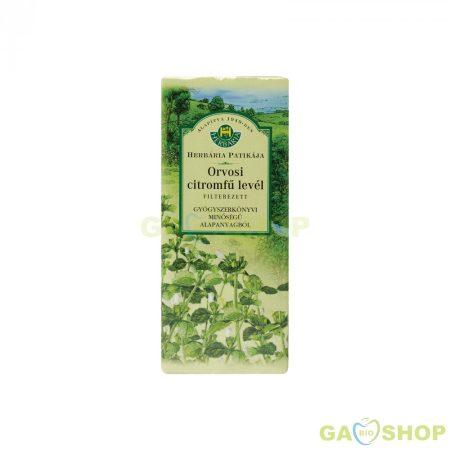 Herbária citromfűlevél tea filteres