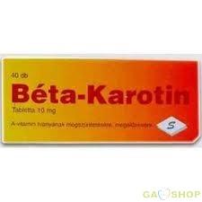 Béta-karotin tabletta 40 db