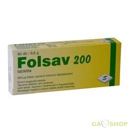Folsav tabletta 60 db