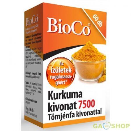 Bioco kurkuma kivonat 7500 kapszula
