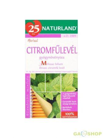 Naturland citromfűlevél tea 25 filteres