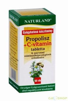 Naturland propolisz+c-vitamin tabl. 60db