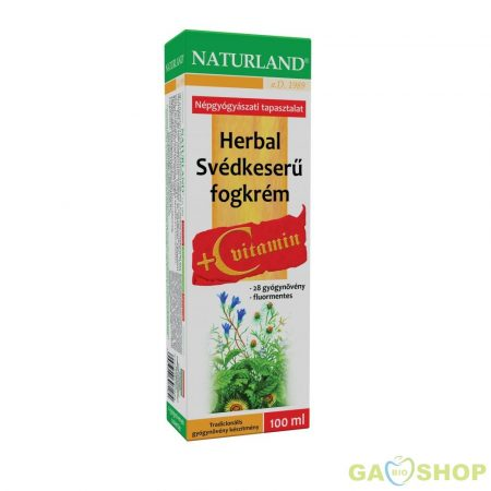 Naturland svédkeserü fogkrém+ c vitamin