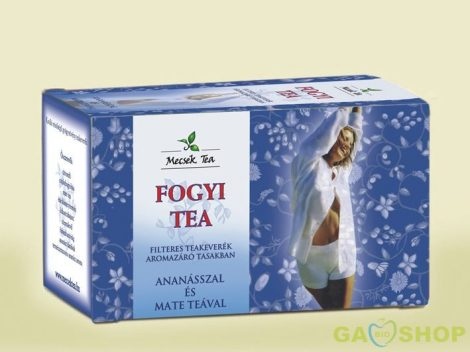 Mecsek fogyi tea ananász+mate tea filt. 20 filter