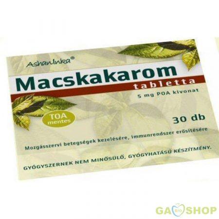 Macskakarom tabletta /ashaninka/ 30 db