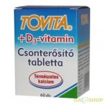 Tovita csonterősítő tabletta+d3 vitamin