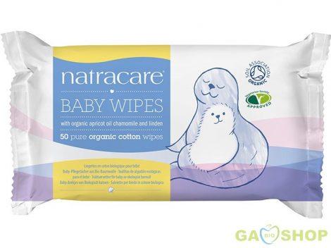 Natracare bio pamut baba törlőkendő