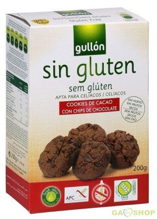 Gullon gluténmentes keksz csokis