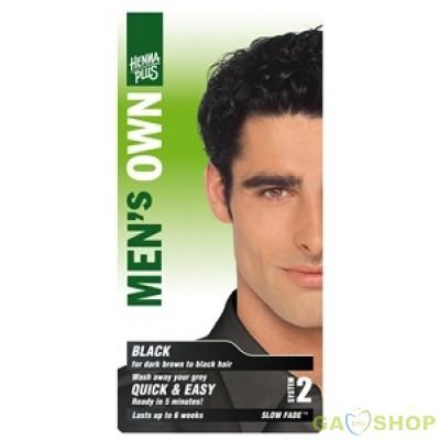 Hennaplus férfi hajfesték fekete  1 db